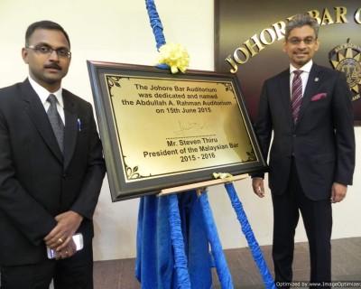 Johore Bar Auditorium naming ceremony 15.6.15 01