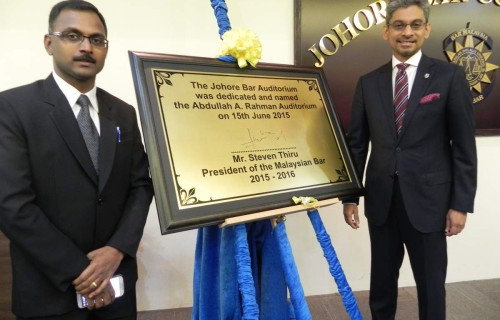 Johore Bar Auditorium naming ceremony 15.6.15 01