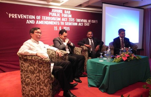 Public Forum on POTA&Amendments to Sedition Act 1948 15.6.15